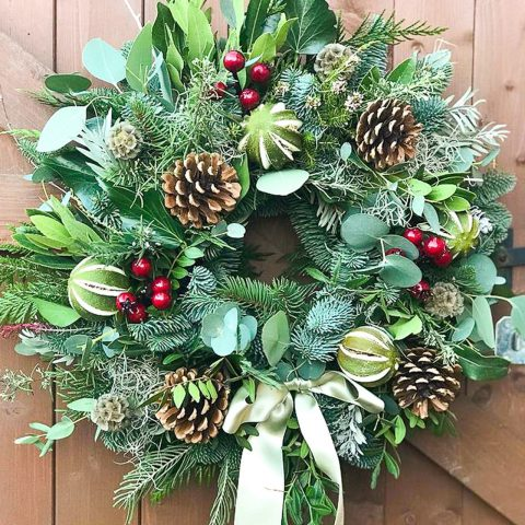 Christmas Wreath Making Workshop With Paula Barwell & Karen Mallinder - Price £35